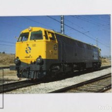 Postales: POSTAL DE TREN - Nº 273 - LOCOMOTORA DIESEL 333-007-3 - MADRID-FUENCARRAL 1990 - EUROFER. Lote 95813291