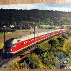 Postales: POSTAL TREN FERROCARRIL LE 1107 PARIS FRANCFORT AUX ENVIRONS DE NOGENT L´ARTAUD. Lote 96465683