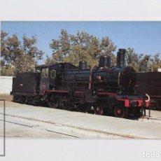 Postales: POSTAL DE TREN - Nº 328 LOCOMOTORA VAPOR 230-4001 - VILANOVA Y LA GELTRÚ 1972 - EUROFER. Lote 96492323