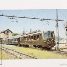 Postales: POSTAL - Nº 350 FF.CC VASCONGADOS TREN PULLMAN AUTOMOTOR ELÉCTRICO MCD-17 - ZUMAYA 1970 - EUROFER. Lote 117878770