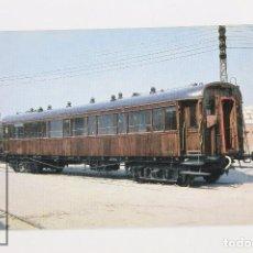 Postales: POSTAL DE TREN - Nº 392 COCHE 1ª CLASSE AA - VILANOVA Y LA GELTRÚ 1972 - EUROFER. Lote 171650344