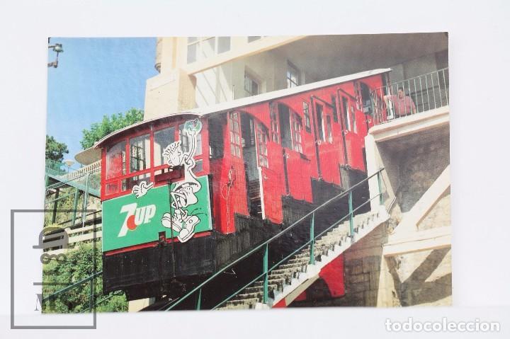 POSTAL DE TREN - Nº 486 FUNICULAR DEL MONTE IGUELDO SAN SEBASTIÁN-DONÓSTIA 1993 - 7UP - EUROFER (Postales - Postales Temáticas - Trenes y Tranvías)