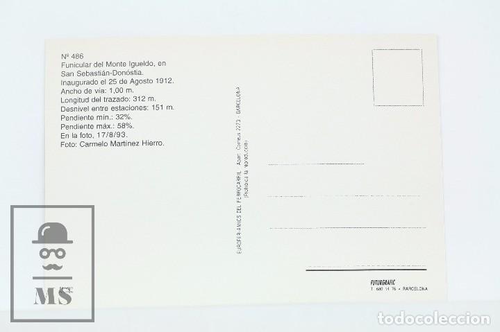 Postales: Postal De Tren - Nº 486 Funicular Del Monte Igueldo San Sebastián-Donóstia 1993 - 7UP - Eurofer - Foto 2 - 162821218