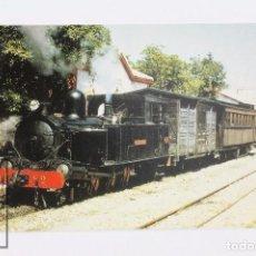 Postales: POSTAL DE TREN- Nº 511 F.C ALCOY-GANDIA LOCOMOTORA VAPOR 1-3-1T Nº 2 VILLALONGA - EUROFER. Lote 245785820