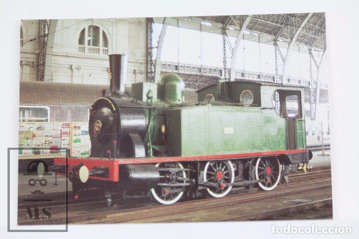 POSTAL - Nº 563 LOCOMOTORA VAPOR 030/0233 CALDAS - ESTACIÓN DE FRANCIA, BARCELONA 1981 - EUROFER (Postales - Postales Temáticas - Trenes y Tranvías)