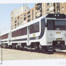 Postales: POSTAL DE TREN - Nº 646 AUTOMOTOR DIESEL 2410-2460 - ESTACIÓN DE CARTAGENA 1998 - EUROFER. Lote 147971704