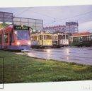 Postales: POSTAL - Nº 703 TRANVÍAS DE LA CORUÑA / Nº 32 Y 27, EL ZARAGOZANO Nº 57,COMBINO- AÑO 1999 - EUROFER . Lote 158188104