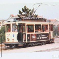Postais: POSTAL - Nº 742 TRANVÍAS DE LA CORUÑA Nº 27 - AÑO 1998- 1906 LA FUERZA DE LA CERVEZA - EUROFER. Lote 241846030