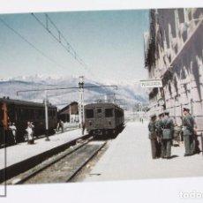 Postales: POSTAL DE TREN - Nº 745 U.T 300 EN ADUANA - PUIGCERDÀ 1952 - EUROFER. Lote 147971596
