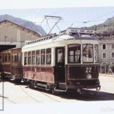 Postales: POSTAL - Nº 851 F.C DE SOLLER/ TRANVÍA SOLLER-PUERTO DE SOLLERCO COCHE Nº 22 - SOLLER 2001- EUROFER. Lote 109220019