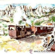 Postales: POSTAL FLORIT * CREMALLERA DE MONTSERRAT 1892-1957 *. Lote 98661299