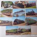 Postales: 11 POSTALES DEL 1 AL 11, NUMERADAS, TRENES Y TRANVIA. . Lote 99086099