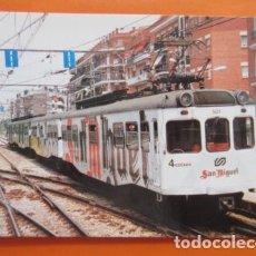 Postais: POSTAL - FERROCARRILES GENERALITAT 1995 RED F.C.C SAN MIGUEL CERVEZA 1995 - NO CIRCULADA - EUROFER. Lote 99460071