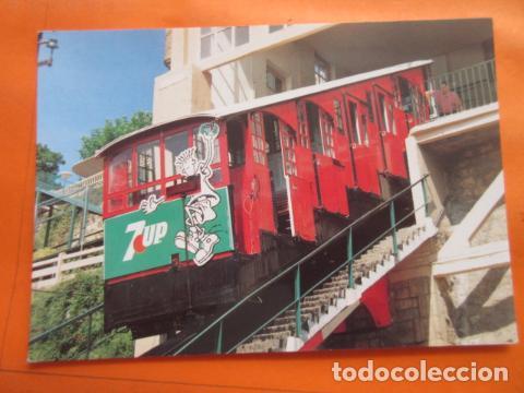 POSTAL - FUNICULAR MONTE IGUELDO SAN SEBASTIAN 1993 - NO CIRCULADA - EUROFER (Postales - Postales Temáticas - Trenes y Tranvías)