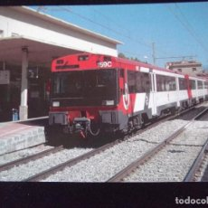 Postales: TRENES-V42-NO ESCRITA-Nº836-UNIDAD ELECTRICA 440-REFORMADA-ESTACION DE FIGUERAS-2001. Lote 99501055