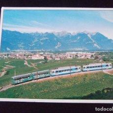 Postales: TRENES-V42- ESCRITA-AIGLE-VUE GENERALE ET TRAIN-GERALD HADORN,1860 AIGLE-1996. Lote 99502011