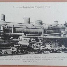 Postales: POSTAL TRENES Nº 14 LES LOCOMOTIVES FRANCAISES (NORD) MACHINE Nº 3546 EDIT F. FLEURY, PARIS. Lote 100891239