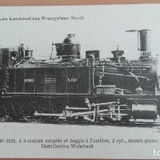 Postales: POSTAL TRENES Nº 35 LES LOCOMOTIVES FRANCAISES (NORD) MACHINE Nº 3121 FERROCARRILES ED F. FLEURY. Lote 100893823