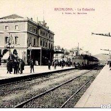 Postales: BADALONA--LA ESTACIÓN DEL FERROCARRIL - - ROISIN-- MUY RARA. Lote 104000175