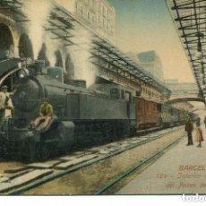 Postales: BARCELONA -FERROCARRIL--INTERIOR DEL APEADERO DEL Pª DE GRACIA- -VENINI Nº 124-. Lote 104000439