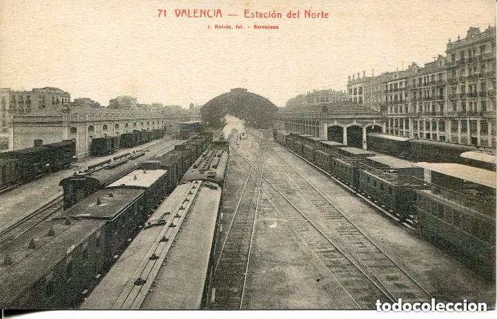 VALENCIA-FERROCARRIL ESTACIÓN DEL NORTE- (Postales - Postales Temáticas - Trenes y Tranvías)