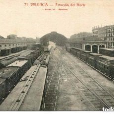 Postales: VALENCIA-FERROCARRIL ESTACIÓN DEL NORTE-. Lote 104000655