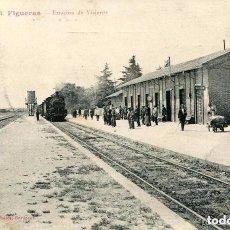 Postales: FERROCARRIL-ESTACIÓN DE FIGUERAS- RARA. Lote 104001439