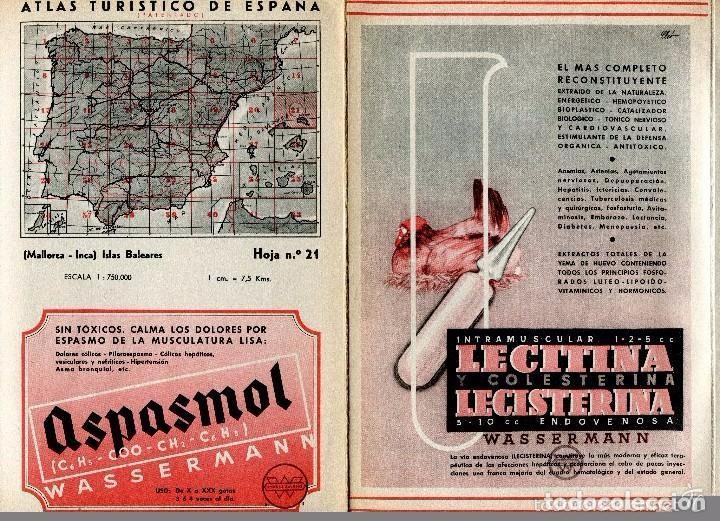 Postales: MAPA-MALLORCA-INCA-MENORCA- AÑOS 50-LINEAS DE FERROCARRIL -CARRETERAS- PUBLICIDAD-30X22-RARO - Foto 2 - 104001903