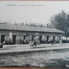Postales: POSTAL FIGUERAS ESTACION DEL FERROCARRIL TREN EDIC LIBRERIA BATET GERONA CATALUÑA. Lote 104938927