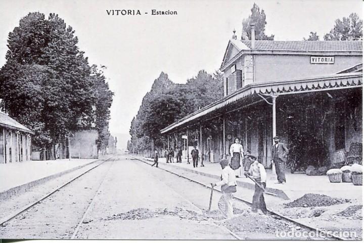 VITORIA-ESTACIÓN FERROCARRIL- REPRO-2000 (Postales - Postales Temáticas - Trenes y Tranvías)