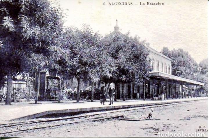 ALGECIRAS-LA ESTACIÓN DEL FERROCARRIL- REPRO-2000 (Postales - Postales Temáticas - Trenes y Tranvías)