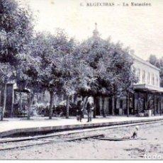 Postales: ALGECIRAS-LA ESTACIÓN DEL FERROCARRIL- REPRO-2000. Lote 109060731