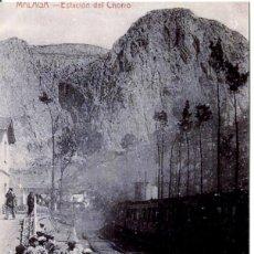 Postales: MÁLAGA--ESTACIÓN DEL CHORRO- FERROCARRIL -REPRO 2000.. Lote 109133987