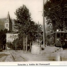 Postales: SOLLER-ESTACIÓN Y ANDEN DEL FERROCARRIL -REPRO 2000.. Lote 109134035