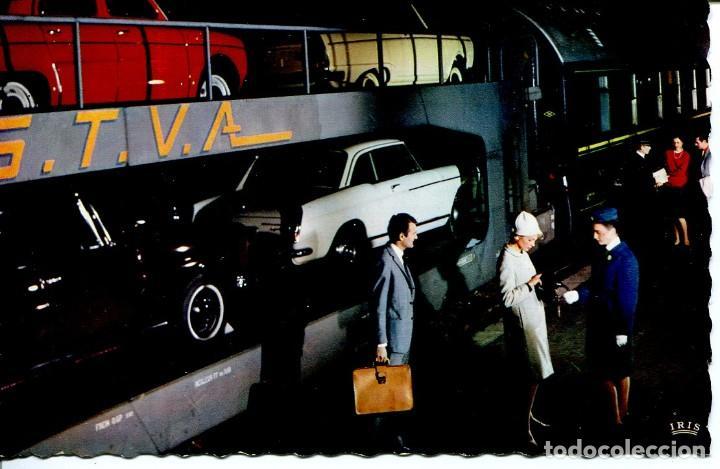 FERROCARRIL TRANSPORTE DE COCHES- FRANCIA. AÑO 1966 (Postales - Postales Temáticas - Trenes y Tranvías)