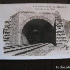 Postales: FERROCARRILES DE CATALUÑA - SALIENDO DE UN TUNEL - CIRCULADA - POSTAL ANTIGUA - VER FOTOS -(51.646). Lote 110572387