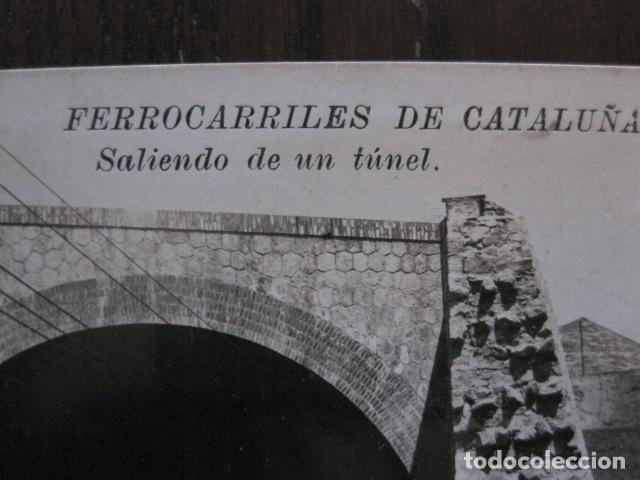 Postales: FERROCARRILES DE CATALUÑA - SALIENDO DE UN TUNEL - CIRCULADA - POSTAL ANTIGUA - VER FOTOS -(51.646) - Foto 2 - 110572387