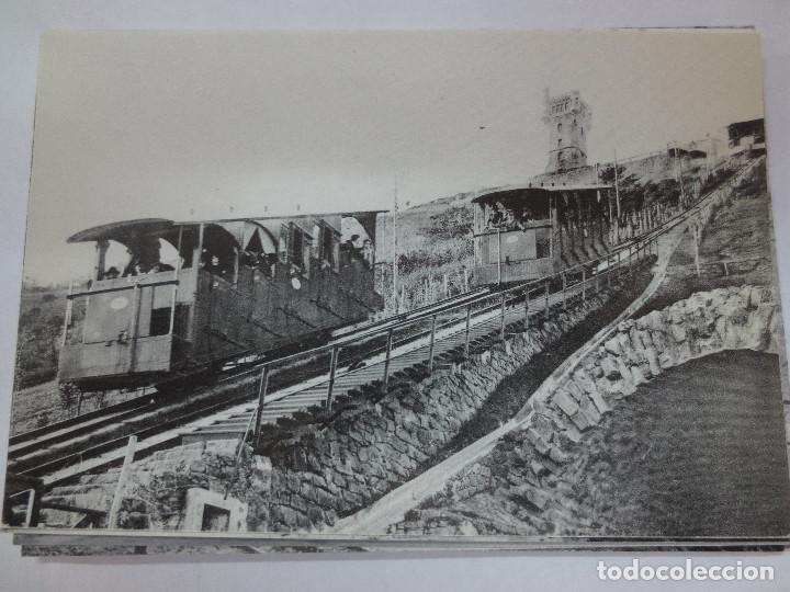 TARJETA POSTAL N-42 FUNICULAR DEL MONTE IGUELDO (Postales - Postales Temáticas - Trenes y Tranvías)