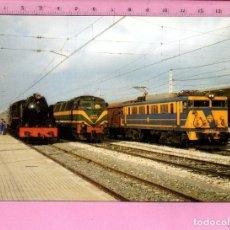 Postales: EXHIBICIÓN DE TRENES Nº 797 FOTO EN REUS EDITÓ EUROFER AMIGOS FERROCARRIL SIN CIRCULAR . Lote 111767615