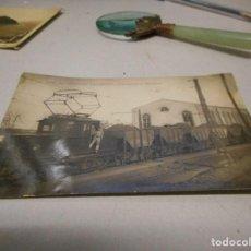 Postales: POSTAL FOTOGRAFICA PUERTO DE SAGUNTO LOCOMOTORA ELECTRICA. Lote 112262495