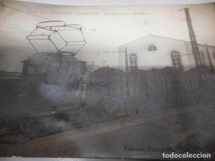 Postales: postal fotografica puerto de sagunto locomotora electrica - Foto 2 - 112262495