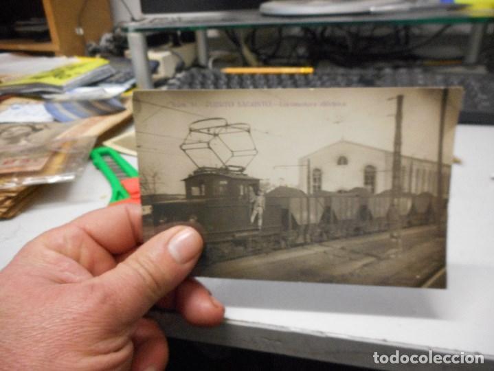 Postales: postal fotografica puerto de sagunto locomotora electrica - Foto 3 - 112262495