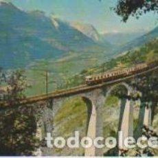 Postales: POSTAL DE TREN POR UN VIADUCTO (SUIZA). Lote 112340627