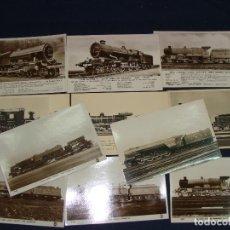Postales: BONITO LOTE DE 11 POSTALES DE TRENES ANTIGUAS. MAQUINAS VAPOR. FOTOGRÁFICAS. VER FOTOS. Lote 112903347