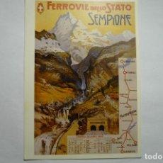 Postales: POSTAL EXTRANJERA .-FERROCARRIL FERROVIE DELLO STATO SEMPIONE CM. Lote 115457923