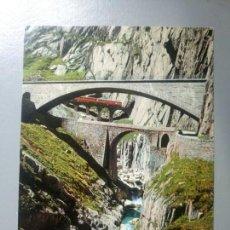 Postales: POSTAL TREN SUIZA SCHOLLENEN AUFNAHME UND VERLAG. Lote 115993807