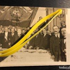 Postales: POSTAL CEREMONIA ASOCIACION EMPLEADOS Y OBREROS DE LOS FERROCARRILES DE ESPAÑA REPULLES Y VARGAS. Lote 121129911