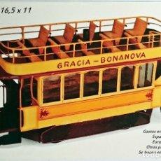 Postales: TRANVÍA IMPERIAL GRACIA BONANOVA 1915 POSTAL PUBLICIDAD DEL MUSEO DEL JUGUETE DE BARCELONA. Lote 117181916