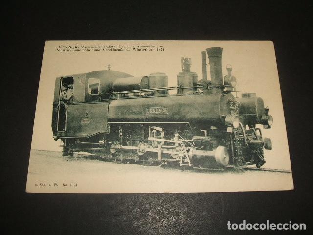 POSTAL FERROCARRIL LOCOMOTORA (Postales - Postales Temáticas - Trenes y Tranvías)