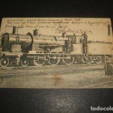 Postales: ANGULEMA FRANCIA NUEVA MAQUINA TREN FERROCARRIL POSTAL 1905. Lote 128388951